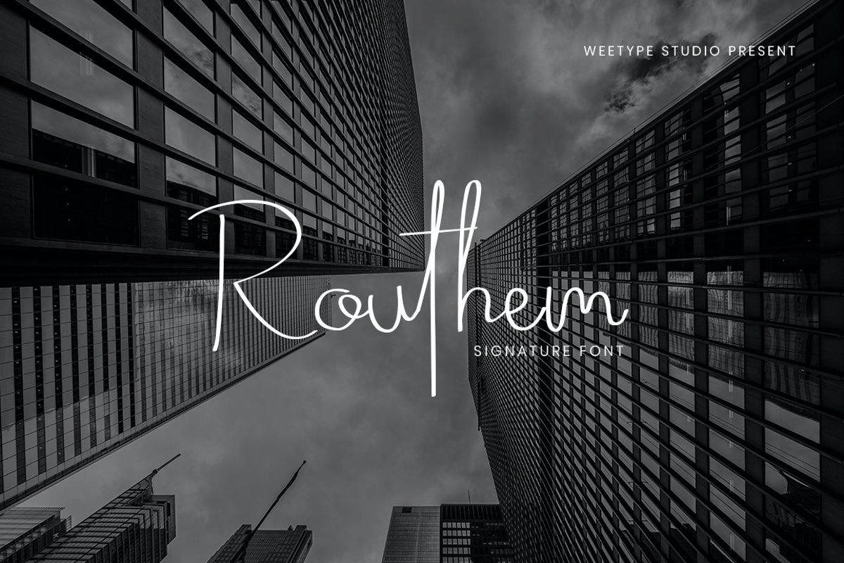 Routhem-Handwritten-Signature-Font