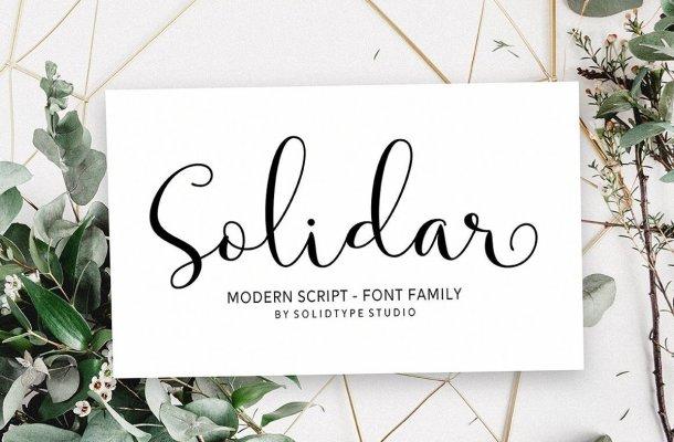 Solidar Modern Calligraphy Script Font