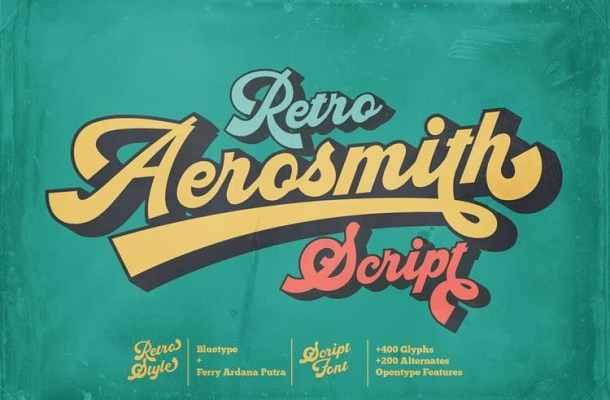 Aerosmith Script Font
