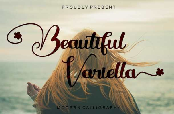 Beautiful variella Calligraphy Font