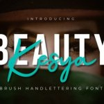 Beauty Kesya Brush Font