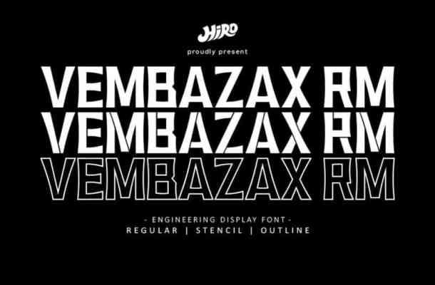 Vembazax RM Display Font