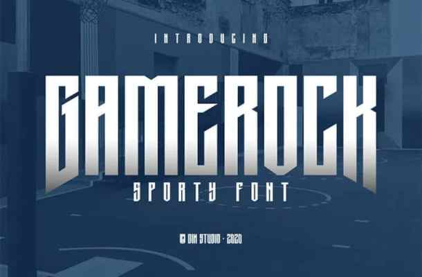 Gamerock Display Font
