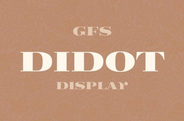 GFS Didot Serif Font