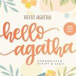 Hello Agatha Font Duo