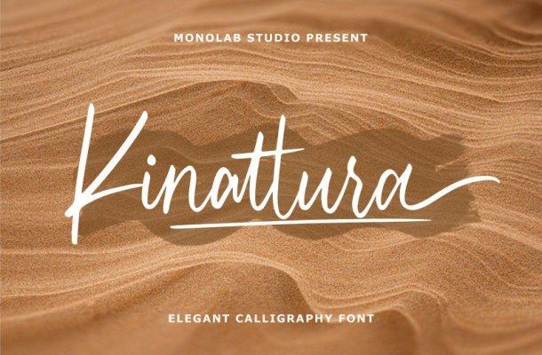Kinattura Script Font