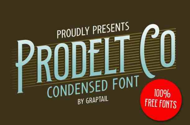 Prodelt Co Display Font