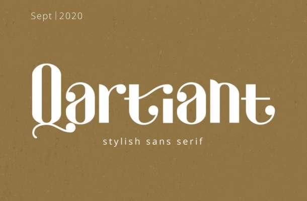 Qartiant Sans Serif Font