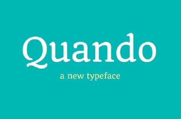 Quando Typeface – Google Fonts