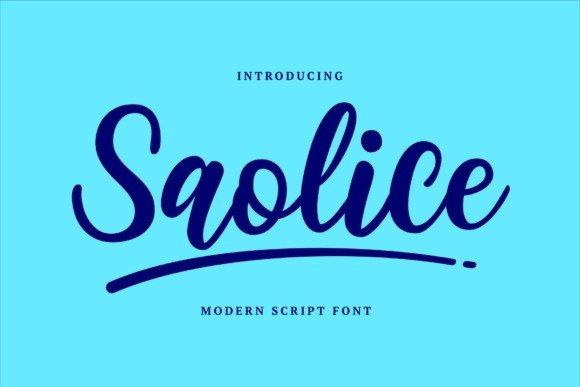 Saolice Script Font