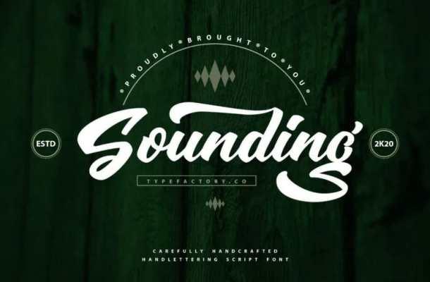 Sounding Script Font