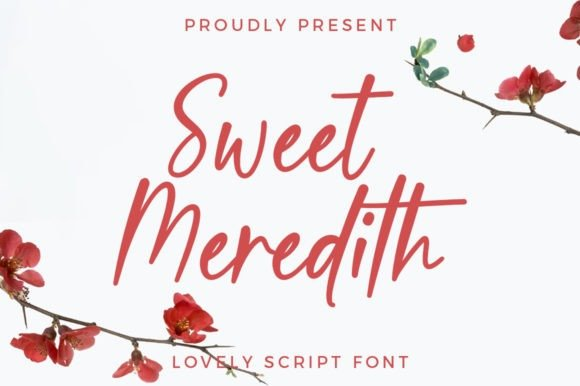 Sweet Meredith Script Font