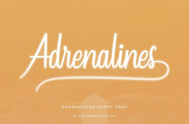 Adrenalines Calligraphy Font