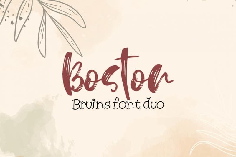 Boston Bruins font duo