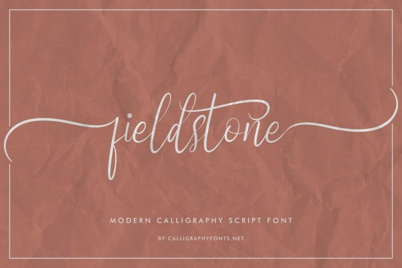 Fieldstone Calligraphy Font
