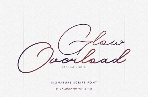 Glow Overload Signature Font