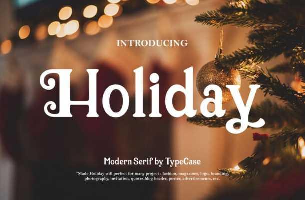 Holiday Serif Font