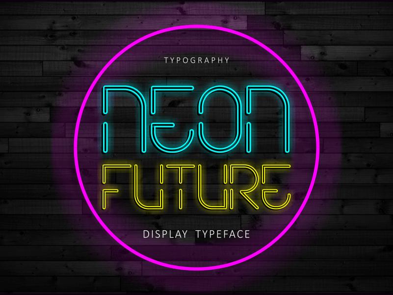 Neon Future Display Font