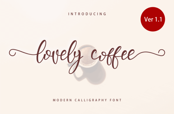 Lovely Coffee Calligraphy Font