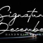 Signature December Script Font