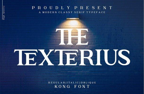 The Texterius Typeface