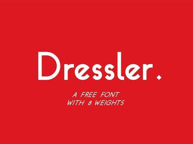 dressler-free-geometric-font