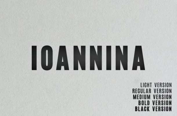 Ioannina Sans Serif Font Family