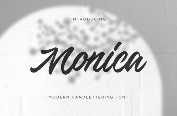 Monica Script Font