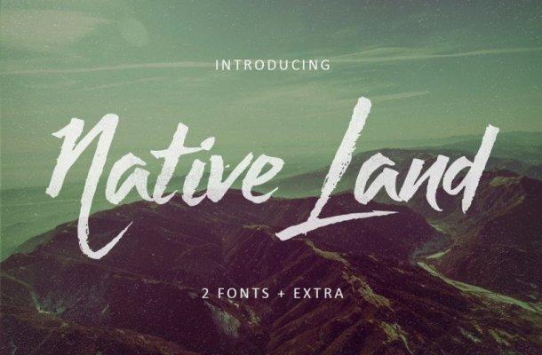 Native Land Brush Font