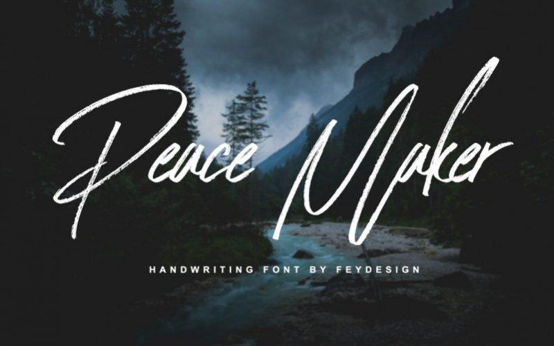 peace-maker-brush-font