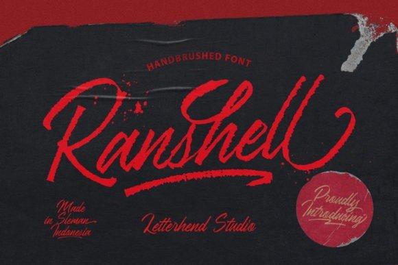 Ranshell Handbrush Font