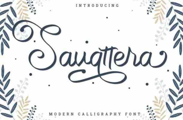 Savattera Handwritten Font