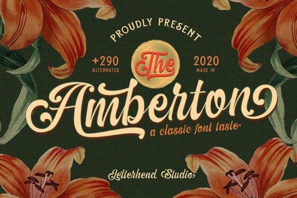 The Amberton Script Font