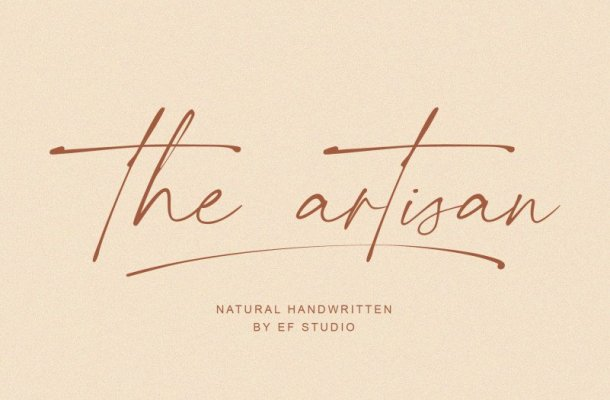 The Artisan Handwritten Font