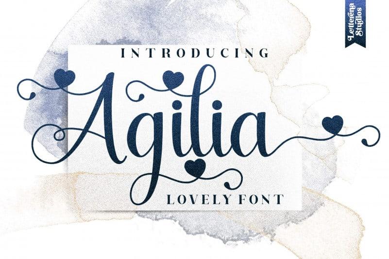 Agilia Calligraphy Font