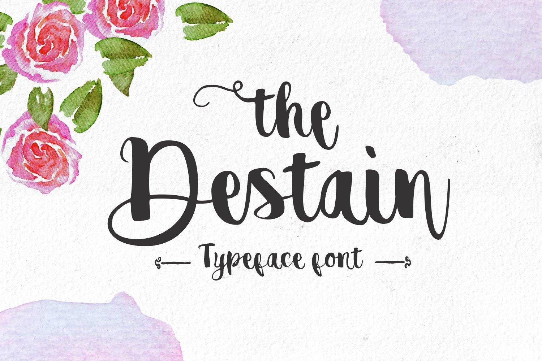 Destain Handwriting Font