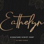 Eathelyn Signature Font