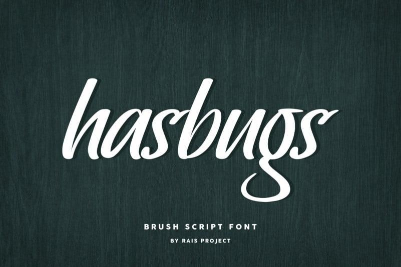 Hasbugs Brush Font