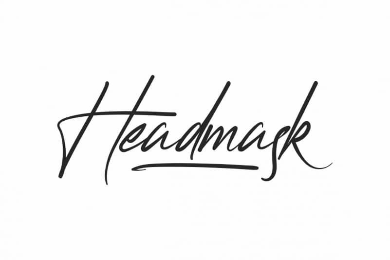 Headmask Script Font