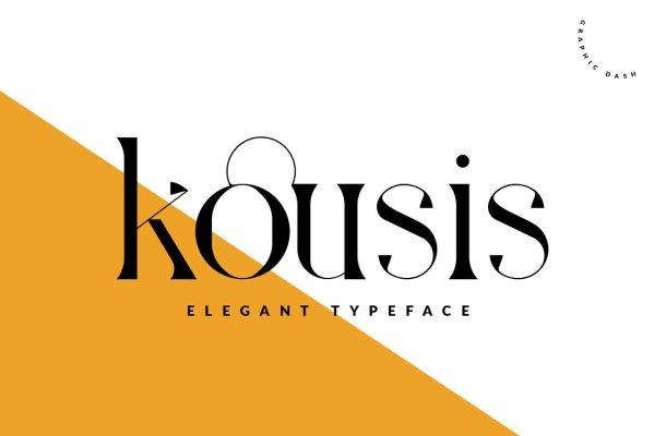 Kousis Typeface