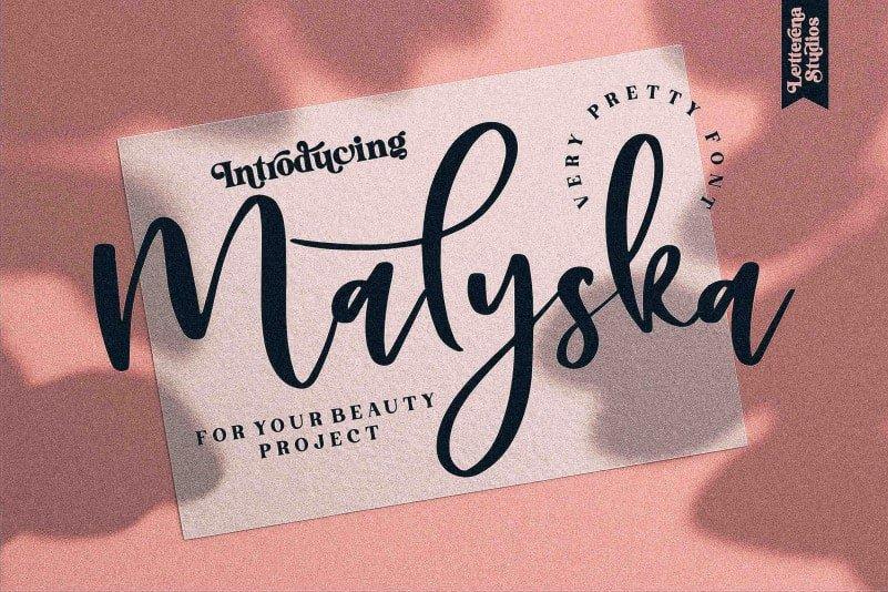 Malyska Calligraphy Font