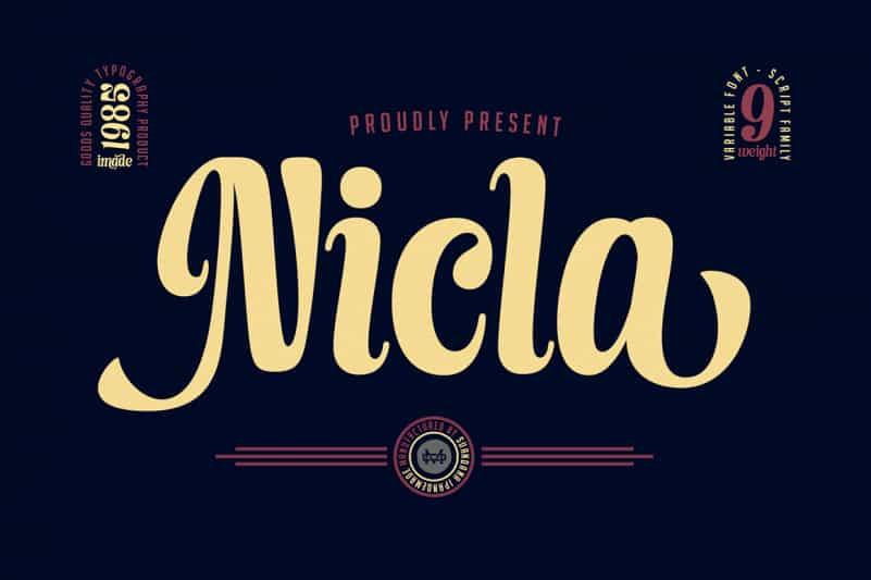 Nicla Script Font