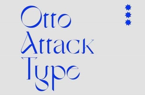 Otto Attack Type Font