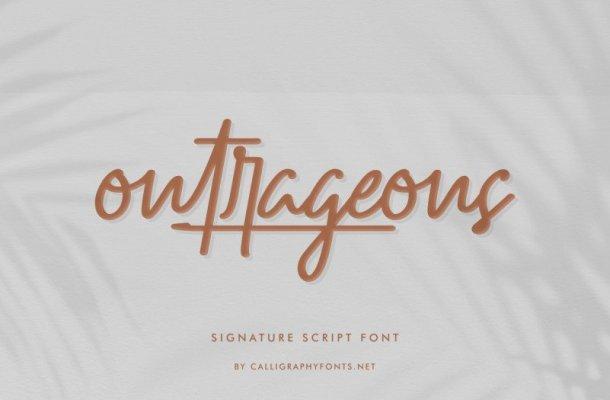 Outrageous Signature Font