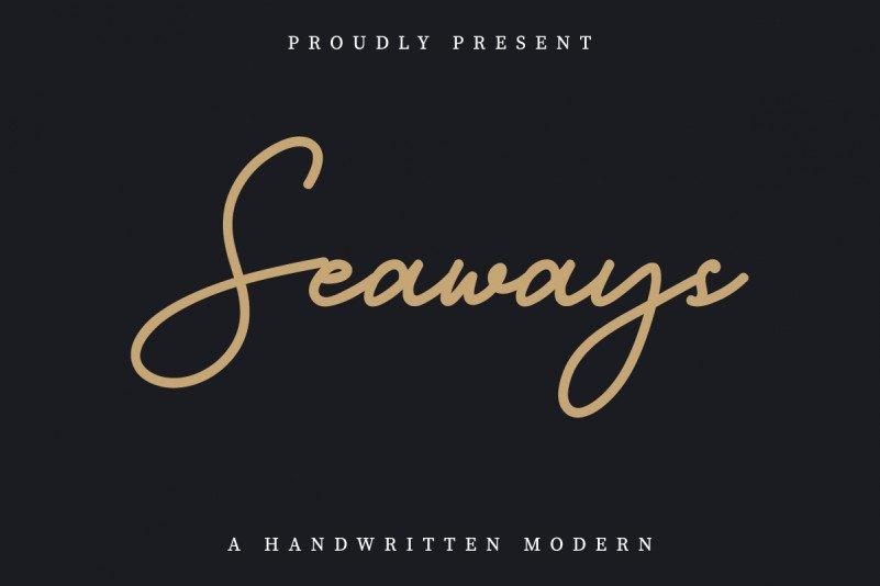 Seaways Handwritten Font