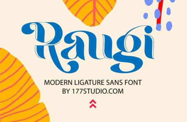 Raugi Ligature Font