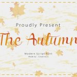 The Autumn Font