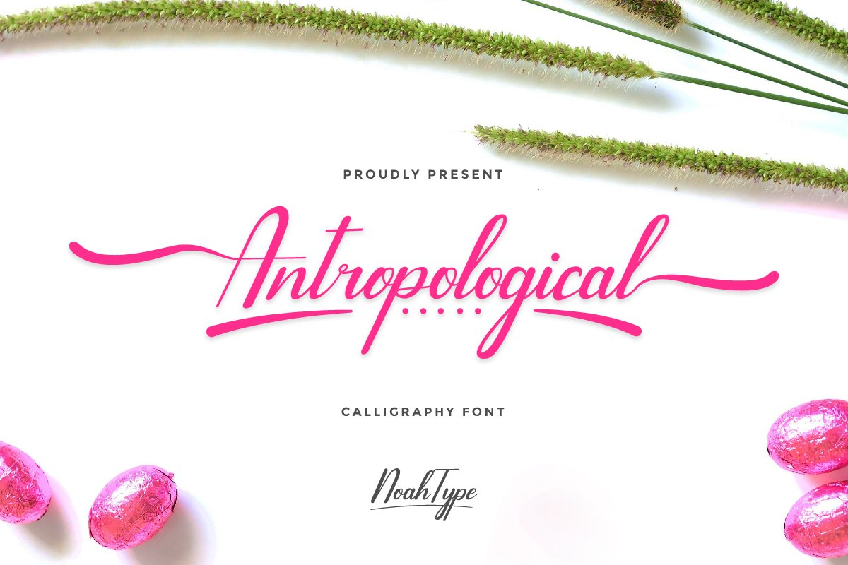 Antropological Calligraphy Font
