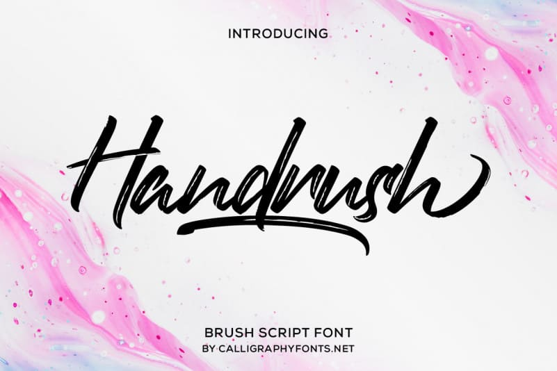 Handrush Brush Font