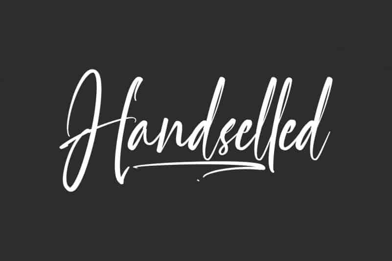 Handselled Script Font